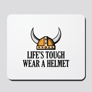 Wear A Helmet Mousepad